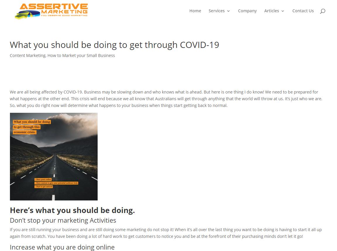 Landing page - (Website)