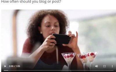 How often should you blog or post on social media?